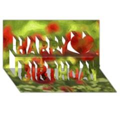 Poppy Vi Happy Birthday 3d Greeting Card (8x4)  by colorfulartwork