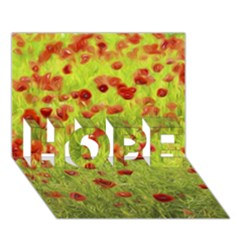 Poppy Viii Hope 3d Greeting Card (7x5)  by colorfulartwork