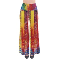 Conundrum I, Abstract Rainbow Woman Goddess  Women s Chic Palazzo Pants by DianeClancy