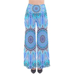 Sapphire Ice Flame, Light Bright Crystal Wheel Women s Chic Palazzo Pants by DianeClancy