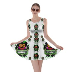 Monster Trolls In Fashion Shorts Skater Dress by pepitasart