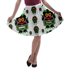 Monster Trolls In Fashion Shorts A Line Skater Skirt by pepitasart