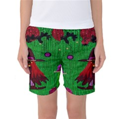 Lady Panda In Everglades Women s Basketball Shorts by pepitasart