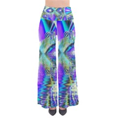 Abstract Peacock Celebration, Golden Violet Teal Pants by DianeClancy