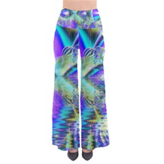 Abstract Peacock Celebration, Golden Violet Teal Women s Chic Palazzo Pants by DianeClancy