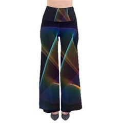 Abstract Rainbow Lily, Colorful Mystical Flower  Women s Chic Palazzo Pants by DianeClancy