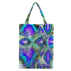 Abstract Peacock Celebration, Golden Violet Teal Classic Tote Bag by DianeClancy