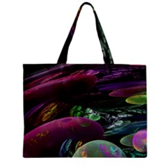 Creation Of The Rainbow Galaxy, Abstract Zipper Mini Tote Bag by DianeClancy