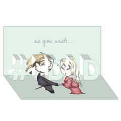 As You Wish #1 Dad 3d Greeting Card (8x4)