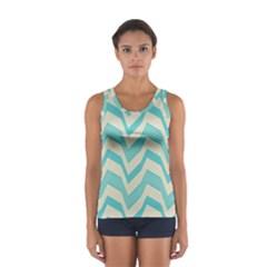 Blue waves pattern                                                         Women s Sport Tank Top by LalyLauraFLM