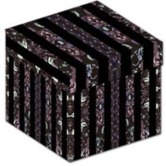 Oriental Floral Stripes Storage Stool 12   by dflcprints