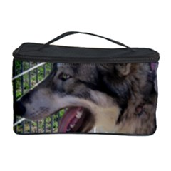 9 Month old wolf  Cosmetic Storage Case by jackiepopp