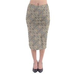 Cobblestone Geometric Texture Midi Pencil Skirt by dflcprintsclothing
