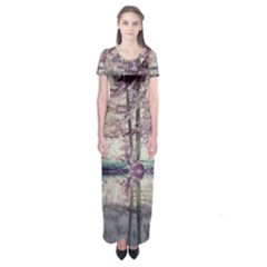 Inversion al250316055 Short Sleeve Maxi Dress by TresFolia