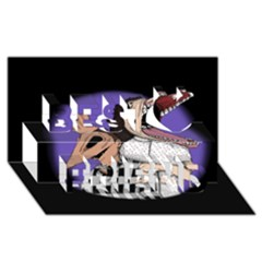 Family Portrait Of The Recently Deceased Best Friends 3d Greeting Card (8x4)