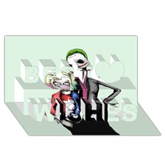 Suicide Nightmare Squad Best Wish 3d Greeting Card (8x4)  by lvbart