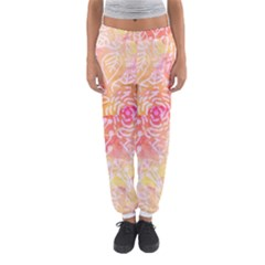 Sunny Floral Watercolor Women s Jogger Sweatpants by KirstenStar