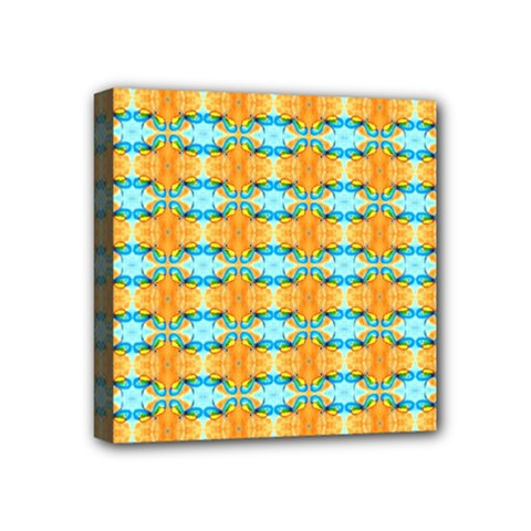 Dragonflies Summer Pattern Mini Canvas 4  X 4  by Costasonlineshop