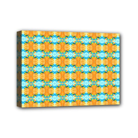 Dragonflies Summer Pattern Mini Canvas 7  X 5