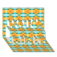 Dragonflies Summer Pattern You Did It 3d Greeting Card (7x5)