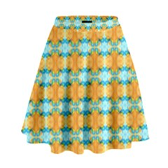 Dragonflies Summer Pattern High Waist Skirt by Costasonlineshop