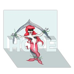 Bad Mermaid Hope 3d Greeting Card (7x5)