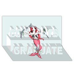 Bad Mermaid Congrats Graduate 3d Greeting Card (8x4)