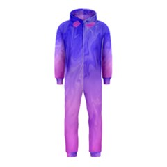 Ombre Purple Pink Hooded Jumpsuit (kids) by BrightVibesDesign