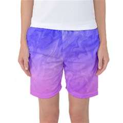 Ombre Purple Pink Women s Basketball Shorts by BrightVibesDesign