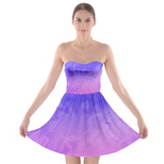 Ombre Purple Pink Strapless Dresses by BrightVibesDesign