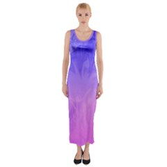 Ombre Purple Pink Fitted Maxi Dress by BrightVibesDesign