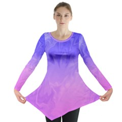 Ombre Purple Pink Long Sleeve Tunic  by BrightVibesDesign