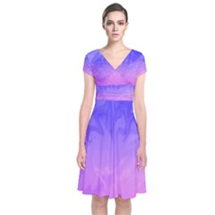 Ombre Purple Pink Wrap Dress by BrightVibesDesign