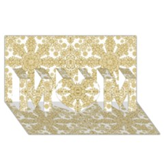 Golden Floral Boho Chic Mom 3d Greeting Card (8x4)  by dflcprints