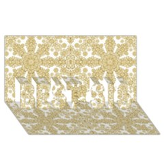 Golden Floral Boho Chic Best Sis 3d Greeting Card (8x4)  by dflcprints