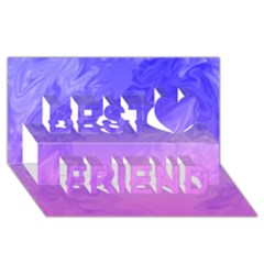 Ombre Purple Pink Best Friends 3d Greeting Card (8x4)  by BrightVibesDesign