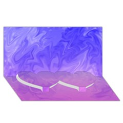 Ombre Purple Pink Twin Heart Bottom 3d Greeting Card (8x4)  by BrightVibesDesign