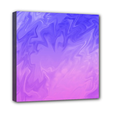Ombre Purple Pink Mini Canvas 8  X 8  by BrightVibesDesign