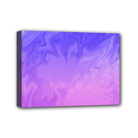 Ombre Purple Pink Mini Canvas 7  X 5  by BrightVibesDesign