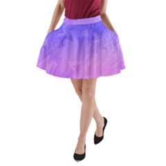 Ombre Purple Pink A-Line Pocket Skirt by BrightVibesDesign