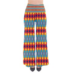 Rhombus And Other Shapes Pattern                                           Women s Chic Palazzo Pants by LalyLauraFLM