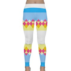 Rhombus And Stripes                                                             Yoga Leggings