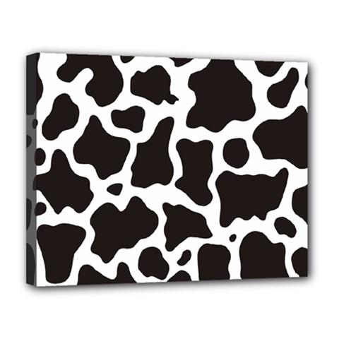 Cow Pattern Canvas 14  X 11