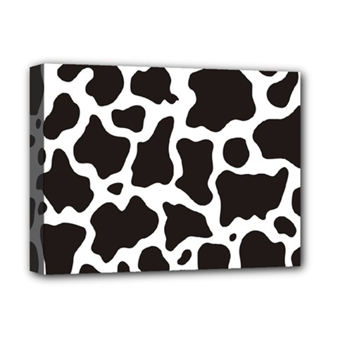 Cow Pattern Deluxe Canvas 16  X 12   by sifis