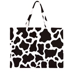 Cow Pattern Zipper Large Tote Bag by sifis