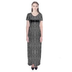 Dark Grunge Texture Short Sleeve Maxi Dress by dflcprintsclothing