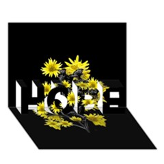 Sunflowers Over Black Hope 3d Greeting Card (7x5)