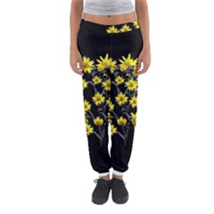 Sunflowers Over Black Women s Jogger Sweatpants by dflcprintsclothing