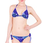 Azurite Blue Flowers Bikini Set