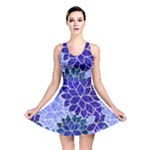Azurite Blue Flowers Reversible Skater Dress